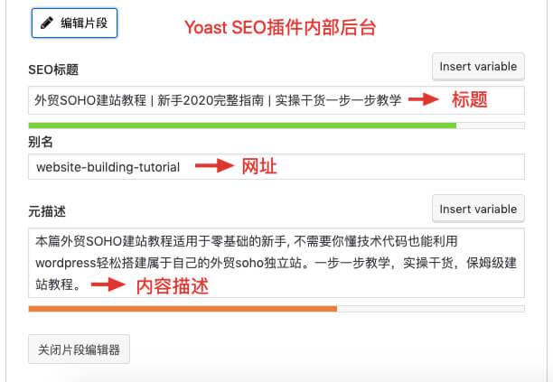 yoast seo插件后台